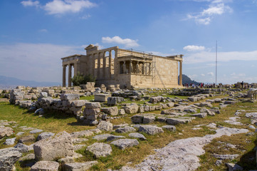 Temple Erechtheion on Acropolis Hill. Athens