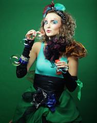 Fashion model with creative make-up