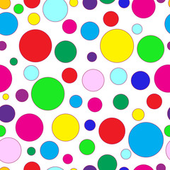 Seamless of color circles pattern