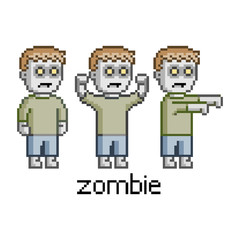 Pixel set zombie