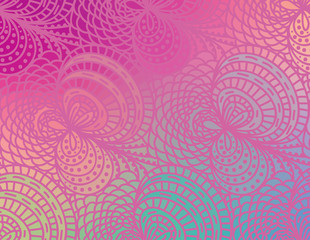 Vector wave background of doodle drawn lines