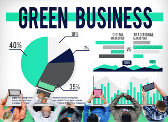Green Business Ecology Environmental Conservation Concept