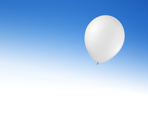 Canvas Print - Balloon in the sky with space for text