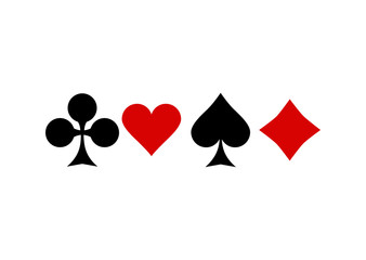 Suits Symbols of Playing Cards.