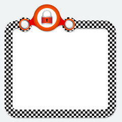 Abstract frame for your text and padlock
