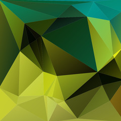 Abstract polygonal background with green and blue triangles.
