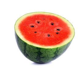 Half watermelon isolated on a white background