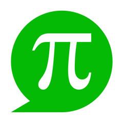Icono texto pi verde