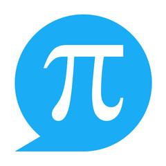 Icono texto pi azul