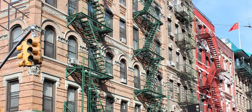 New York City / Fire escape in Chinatown