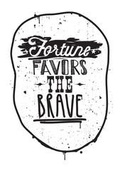 Vintage motivational grunge quote poster, doodles, scribble, fra