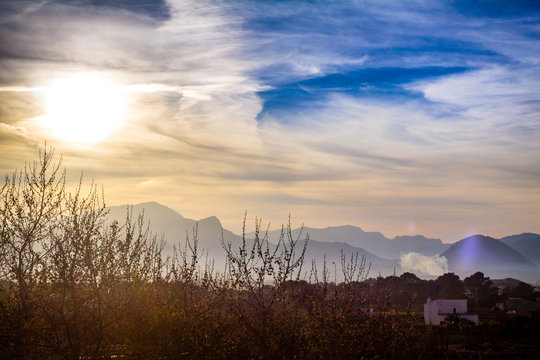 Sonnenuntergang Himmel Berge