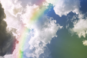 Rainbow on the sky