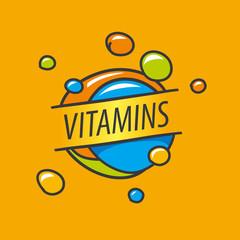 vector logo vitamins colorful bubbles