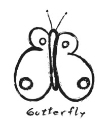 butterfly simple doodle