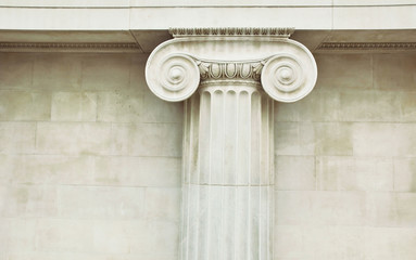 Antique column in doric style