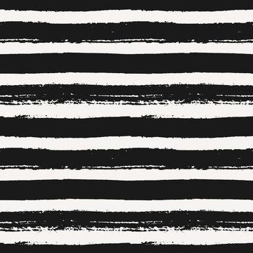 Hand Drawn Striped Seamless Pattern