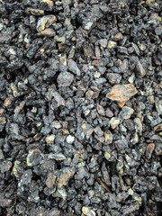 Coal black background mineral stone