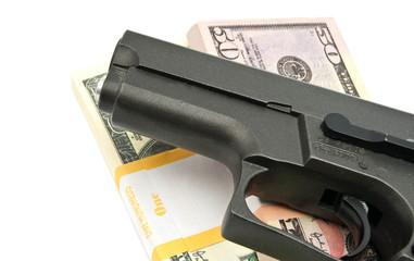notes and gun