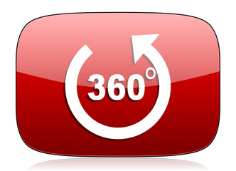 panorama red glossy web icon