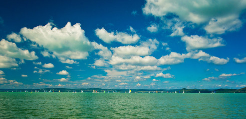 Lake Balaton in summer