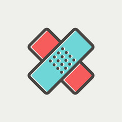 Adhesive bandage thin line icon