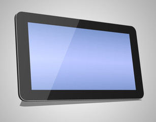3d render of black tablet pc