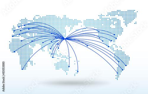 世界地図ドットグローバルネットワークイメージworld Map Vector