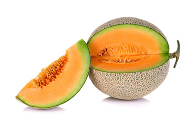 Melon isolated on the white background
