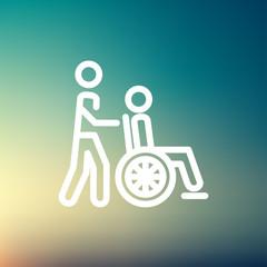 Nursing care thin line icon