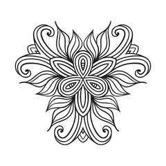 celtic knot pattern card, mandala, amulet