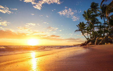 Sunrise on a tropical island