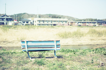 Scenery with the bench