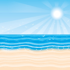 Vector illustration. Beach.