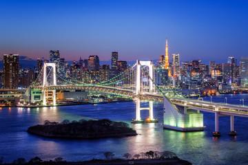 Photo sur Aluminium Tokyo Tokyo Rainbow Bridge und Tokyo Tower