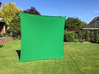 Grüner Hintergrund im Garten
