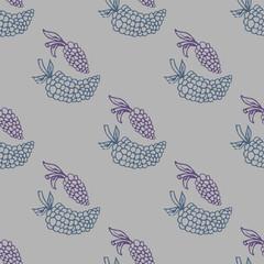 Grape seamless vector illustration