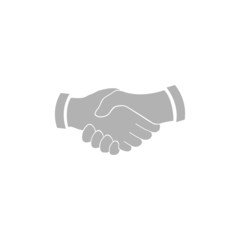 A simple handshake icon.
