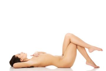 Beautiful naked slim woman.