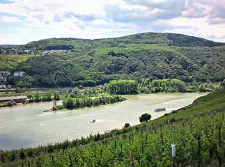 Blick auf den Rhein und das Mittelrheintal