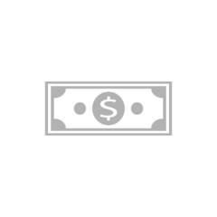 Simple icon dollar bill.