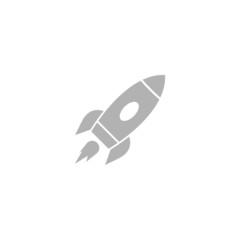 Simple icon rocket.