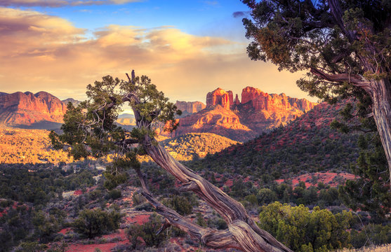 Sunset at Cathedral Rock