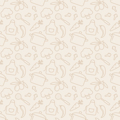 Estores personalizados con tu foto Kitchen seamless pattern. Vector background.
