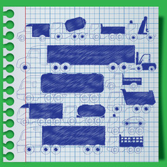 truck on paper