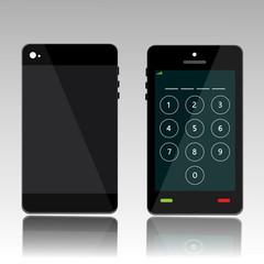 password on black phone