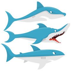 Cartoon Mean Sharks