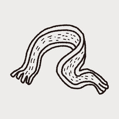 winter scarf doodle