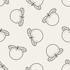 peach doodle seamless pattern background