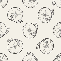 orange doodle seamless pattern background